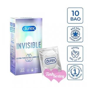 Bao cao su mỏng Durex Invisible hộp 10 cái